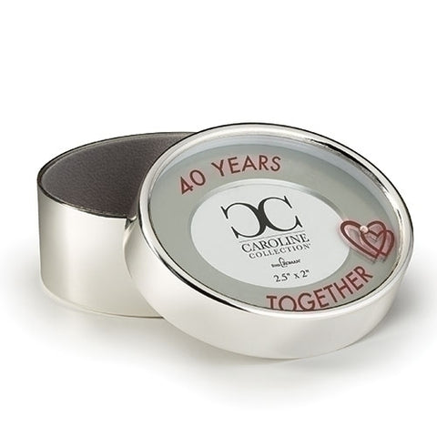 40 Years Together Photo Keepsake Box Caroline Collection