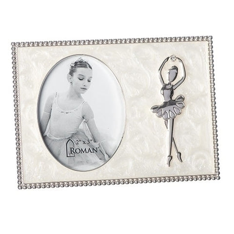 Ivory Oval Ballet Frame Caroline Collection