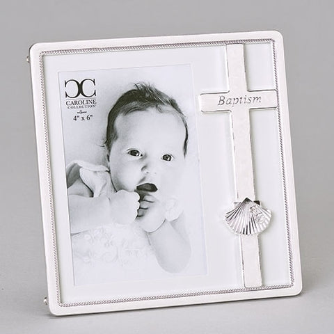 Baptism Frame With Shell Caroline Collection