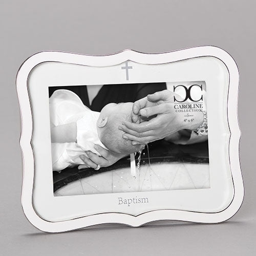 White Baptism Frame Caroline Collection
