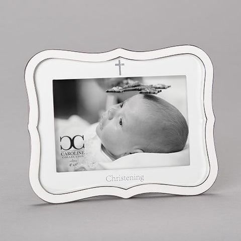 Christening White Frame Caroline Collection
