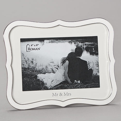 Mr & Mrs White Wedding Frame by Caroline Collection