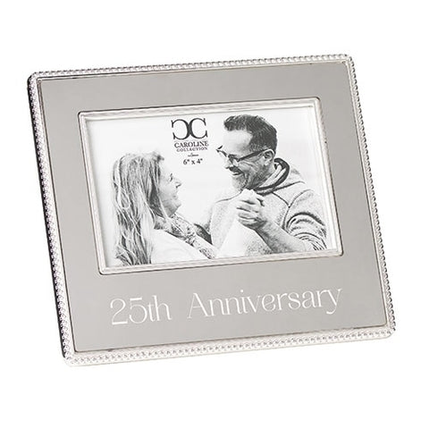 25th Anniversary Photo Frame by Caroline Collection
