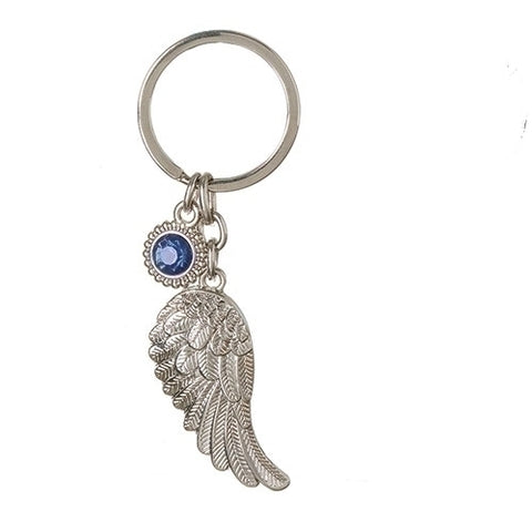 Roman September Angel Wing Keychain