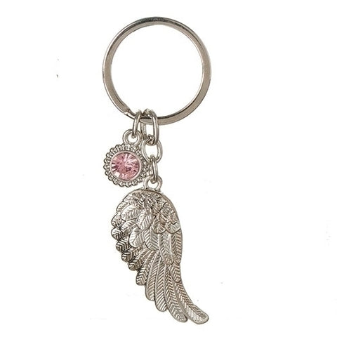 Roman October Angel Wing Keychain