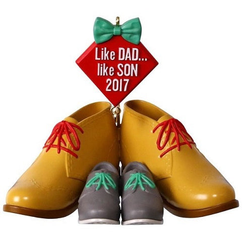 Dress Shoes Like Dad, Like Son Ornament