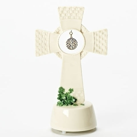 Roman Inc Shamrock Table Cross With Music