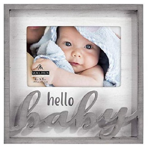 Malden Hello Baby Photo Lase Cut Frame