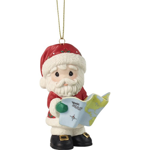 Joy To The Whole Wide World Annual Santa Ornament