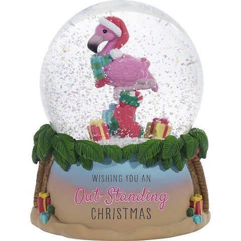 Wishing You An Out-Standing Christmas Annual Musical Snow Globe