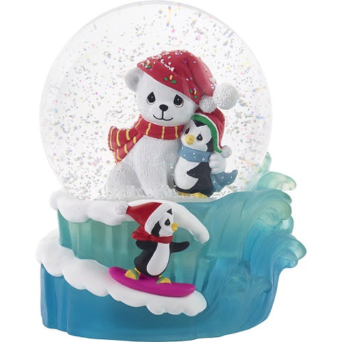 May Your Season Be Filled With Warm Hugs Musical Snow Globe