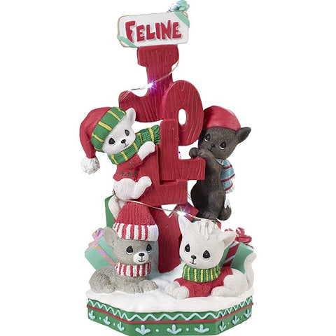 Feline Jolly LED Musical by Precious Moments