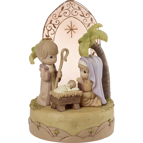 Unto Us A Child Is Born Nativity Musical by Precious Moments