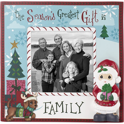 The Season's Greatest Gift Is Family Photo Frame by Precious Moments