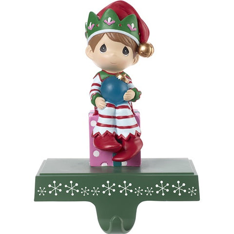 Be Merry Elf Christmas Stocking Holder