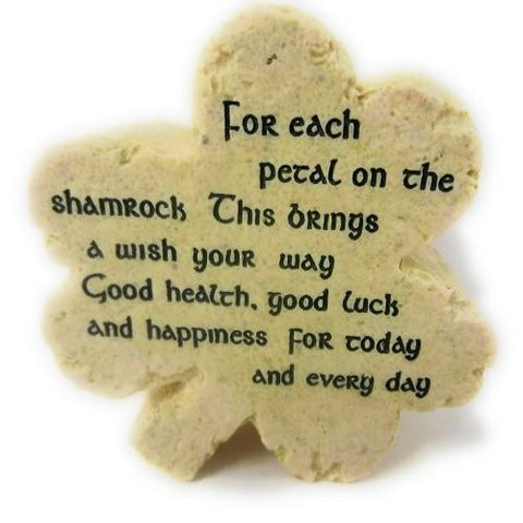 Roman Irish Blessing' Desk Shamrock