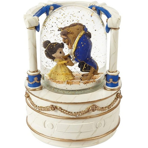 """True Beauty Is Found Within"" Beauty And The Beast Musical Snow Globe"
