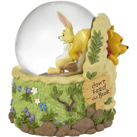 Precious Moments Don't Feed The Bear Winnie The Pooh Musical Snow Globe