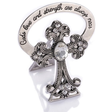 Alexa's Angels Bedside Cross With Crystals