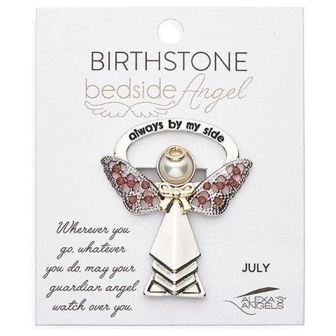 Always By My Side July Birthstone Bedside Angel