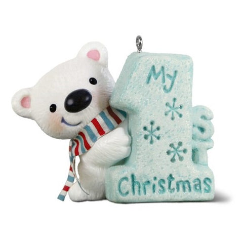 My 1st Christmas Polar Bear Ornament
