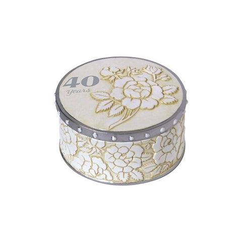 40th Anniversary Trinket Box - Ria's Hallmark & Jewelry Boutique
