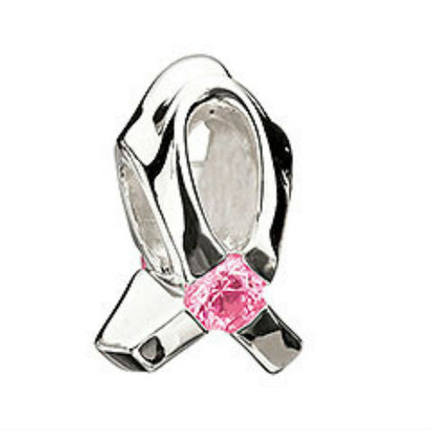 Chamilia Breast Cancer Program - Light Pink Cz Bead - Ria's Hallmark & Jewelry Boutique