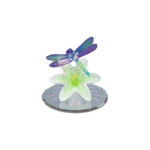 Glass Baron Dragonfly Bright Green Lily