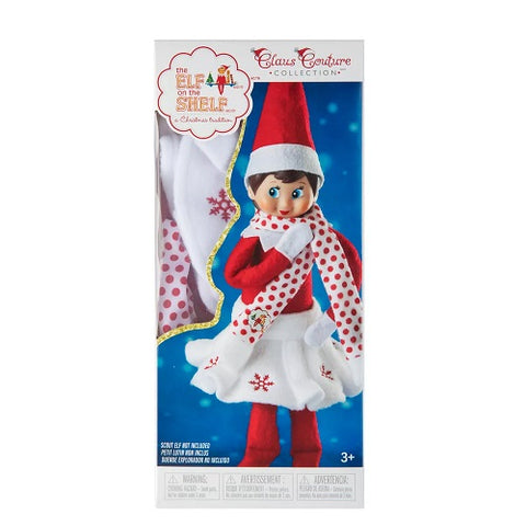 The Elf on the Shelf Claus Couture Snowflake Skirt and Scarf Set