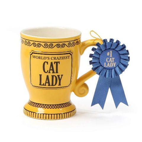 Crazy Cat Lady Trophy Mug - Ria's Hallmark & Jewelry Boutique