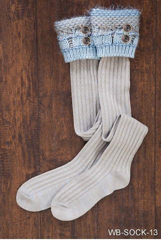 WB Cottage Boot Socks With Buttons - Ria's Hallmark & Jewelry Boutique - 1