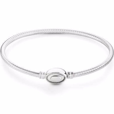 Chamilia Sterling Silver Oval Touch Bracelet Bright Finish - Ria's Hallmark & Jewelry Boutique