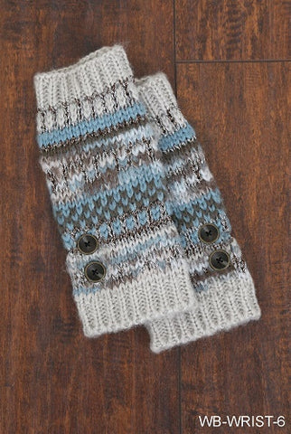 WB Alpine Wrist Warmers with Buttons - Ria's Hallmark & Jewelry Boutique - 1
