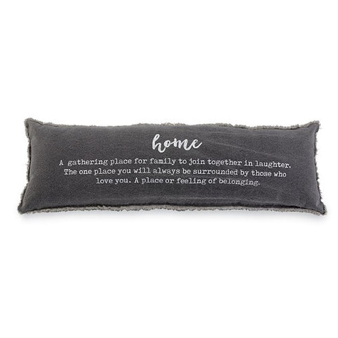 Mud Pie Washed Canvas Home Definition Pillow