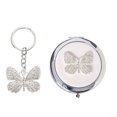Caroline Collection Keychain and Compact Mirror Set