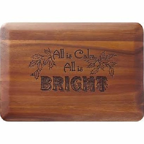 Home for the Holidays All Is Calm; All Is Bright Cutting Board by Lenox - Ria's Hallmark & Jewelry Boutique