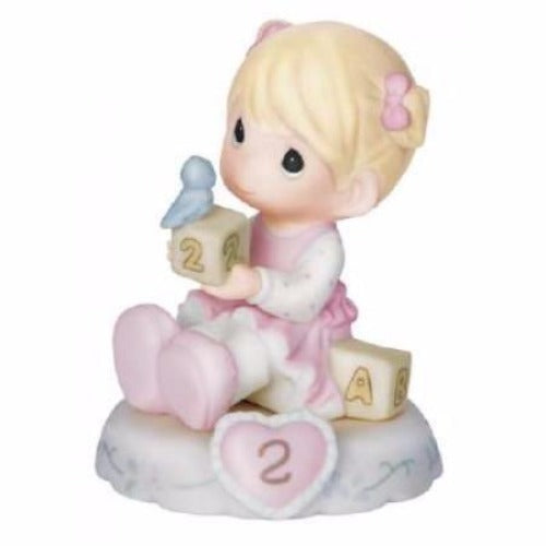 Precious Moments Growing In Grace Age 2 Blonde - Ria's Hallmark & Jewelry Boutique