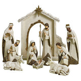 Roman 10 Pc. Ivory And Gold Tone Nativity