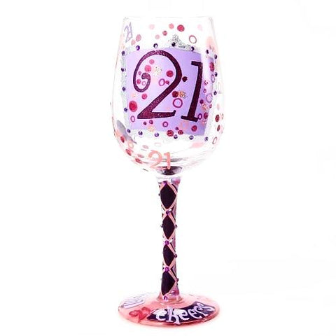 Lolita - 21 Wine Glass - Ria's Hallmark & Jewelry Boutique