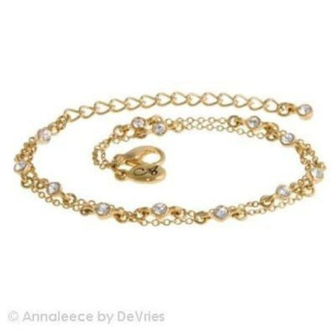 Noble by Annaleece Swarovski Gold Bracelet - Ria's Hallmark & Jewelry Boutique