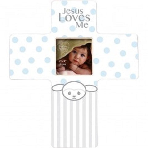 Precious Moments Jesus Loves Me Frame - Boy - Ria's Hallmark & Jewelry Boutique
