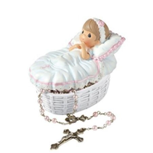 Precious Moments Baptized In His Name Girl Rosary Box - Ria's Hallmark & Jewelry Boutique