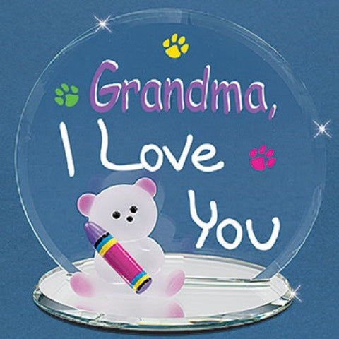 "Glass Baron ""Grandma, I Love You"" Bear"