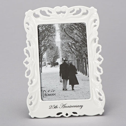 Roman 25th Anniversary Photo Frame