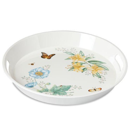 Lenox Butterfly Meadow™ Melamine Round Tray - Ria's Hallmark & Jewelry Boutique