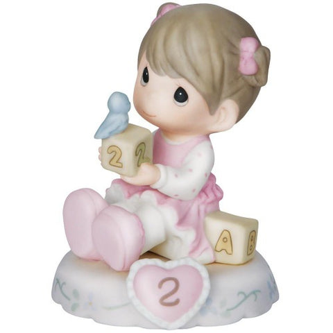 Precious Moments Growing In Grace, Age 2 Brunette - Ria's Hallmark & Jewelry Boutique