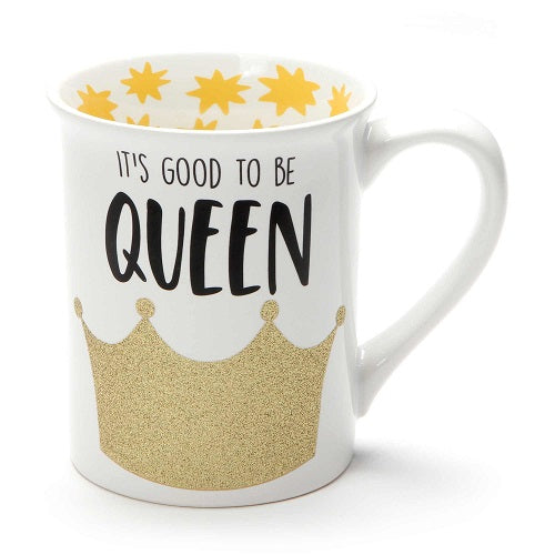 Good To Be Queen Glitter Mug
