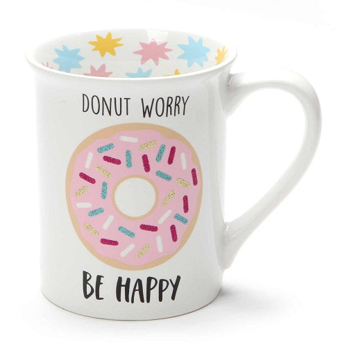 Our Name Is Mud Donut Worry Glitter Mug