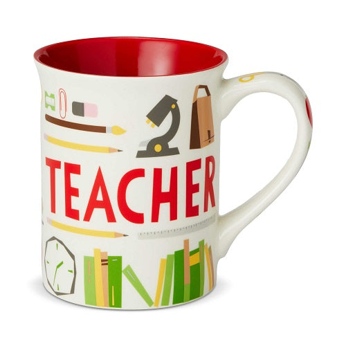 Teacher Coffee Pattern Mug Our Name Is Mud
