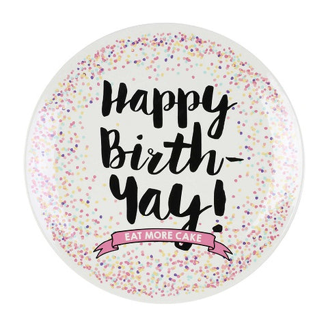 Happy Birthday Cake Plate - Large